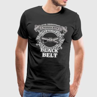 No woman with black belt - Men's Premium T-Shirt