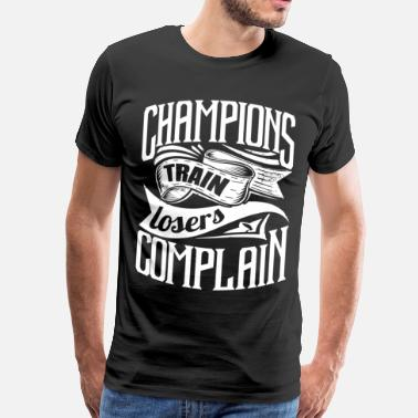 Sports Quote Champ Gym Sports Quotes - Men's Premium T-Shirt