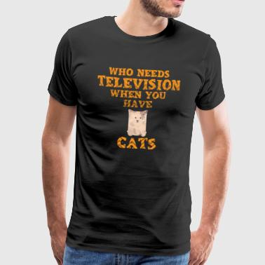 Chats TV - T-shirt Premium Homme