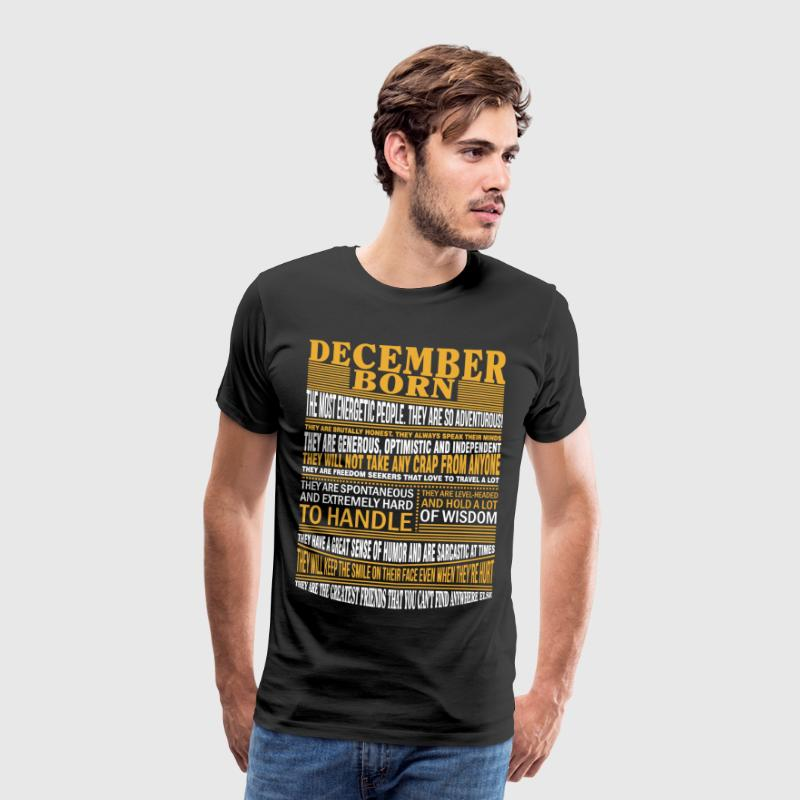 December born the most energetic people - Men's Premium T-Shirt