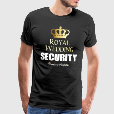 Royal Wedding Harry & Meghan Security Service - Maglietta Premium da uomo