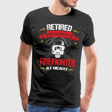 Pensionering Altid Fire Fighter At Heart Retiree Gift - Herre premium T-shirt