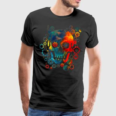 Skull, Space Pirate, Galaxy, Cosmos, Universe - T-shirt Premium Homme