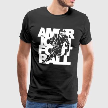 American Football Player Player - Men's Premium T-Shirt