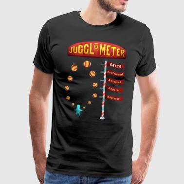Cute Juggle O Meter - Funny Juggling Shirt for dad - Männer Premium T-Shirt