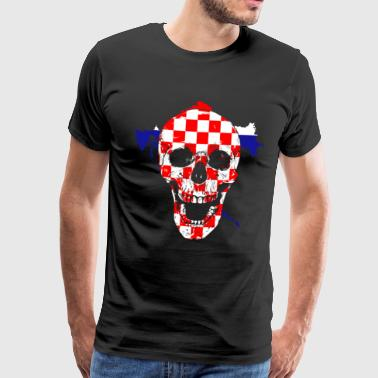 Croatia skull - Men's Premium T-Shirt