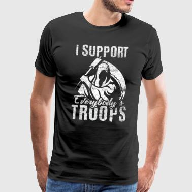 I support everybodys troops - Men's Premium T-Shirt