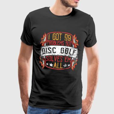 99 kwesties Disc Golf - Mannen Premium T-shirt
