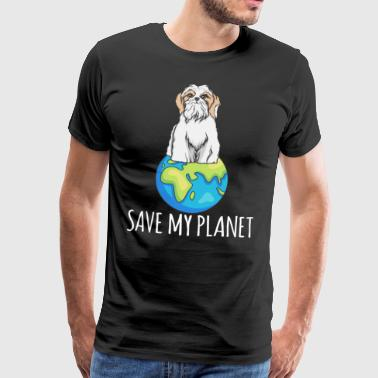 Shih Tzu dog Earth Day gift environment - Men's Premium T-Shirt