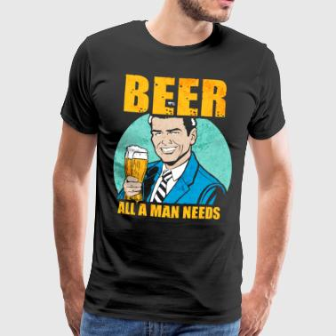 Drinking Beer Drinking Party Drinking Flirt Funny Vintage - Men's Premium T-Shirt