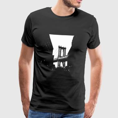 Manhattan Bridge - Bridges motiv - Herre premium T-shirt