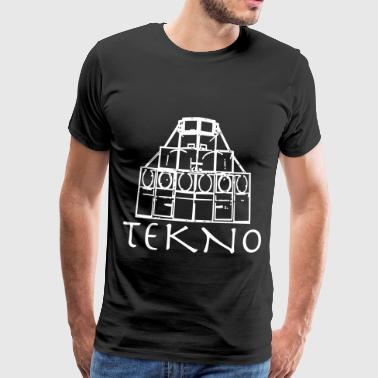 Tekno Rave Wear Free Party Tribe - Mannen Premium T-shirt