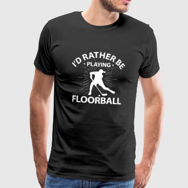 Floorball & floorball - Herre premium T-shirt