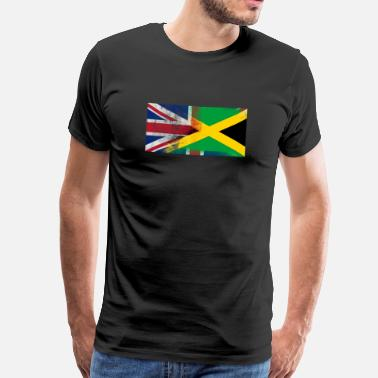 Jamaican British Jamaican Half Jamaica Half UK Flag - Men's Premium T-Shirt