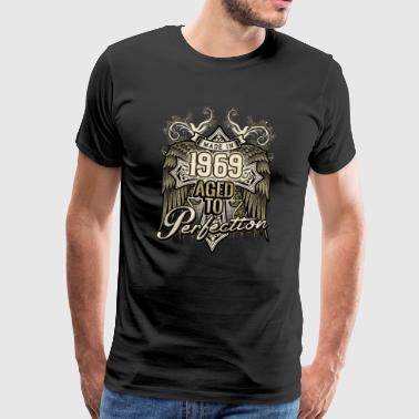 Made in 1969 aged to perfection - retro birthday gift present - RAHMENLOS - Männer Premium T-Shirt