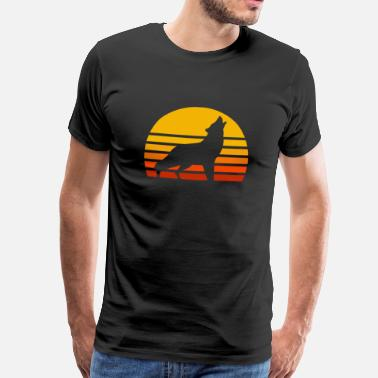 Loups Soleil Wolf sunset - T-shirt Premium Homme