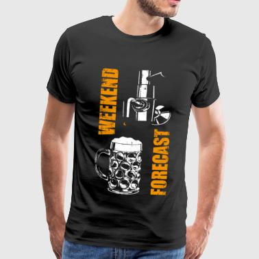 Bier weekend voorspelling - Mannen Premium T-shirt