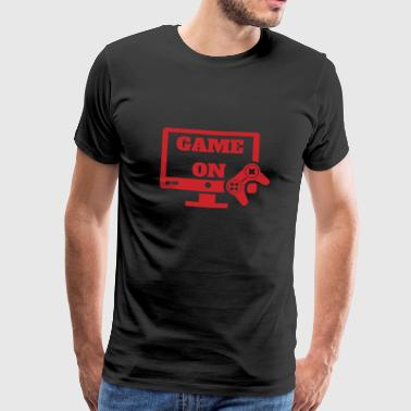 Game on Gaming Gamer Gift Videogames Console - Mannen Premium T-shirt