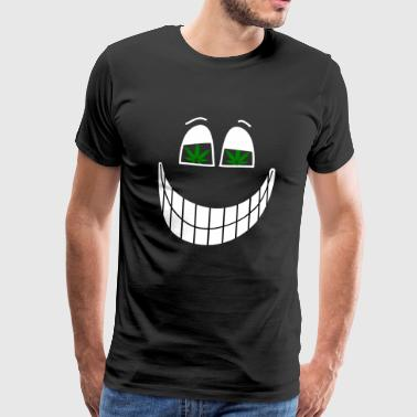 Weed grin - Men's Premium T-Shirt
