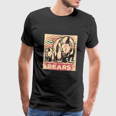 Grizzly Bear Bear animal - Men's Premium T-Shirt