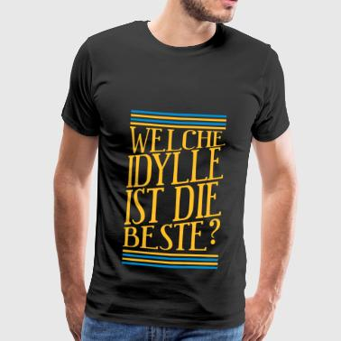 Idyll Best Question Gift Motto Colorful Motif - Men's Premium T-Shirt