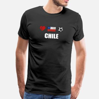 Football Team &amp Chile Football Shirt - Chile Soccer Jersey - Men's Premium T-Shirt
