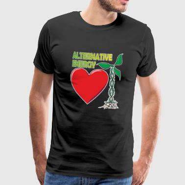 Rolig alternativ energi vindkraft - Premium-T-shirt herr