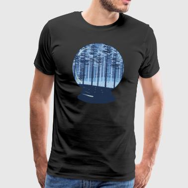 Original Magic Magic place in nature - snow globe - Men's Premium T-Shirt
