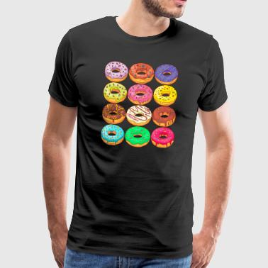 Donuts Confiserie Cookie Tart Cake Pajer - Herre premium T-shirt