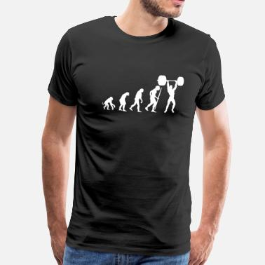 Strong Man Evolution of pumping iron - Men's Premium T-Shirt