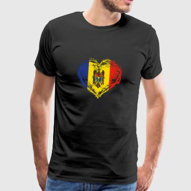 HOME ROOTS COUNTRY LOVE GIFT Moldova - Men's Premium T-Shirt