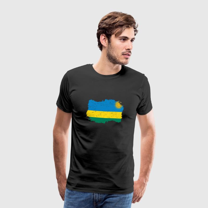 Roots roots flag homeland country Rwanda png - Men's Premium T-Shirt