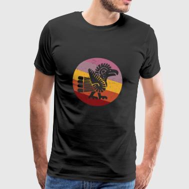 Navajo Style Turkey Retro - Men's Premium T-Shirt