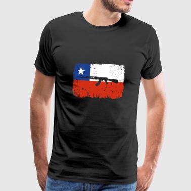 homeland fight ak 47 home roots Chile png - Men's Premium T-Shirt
