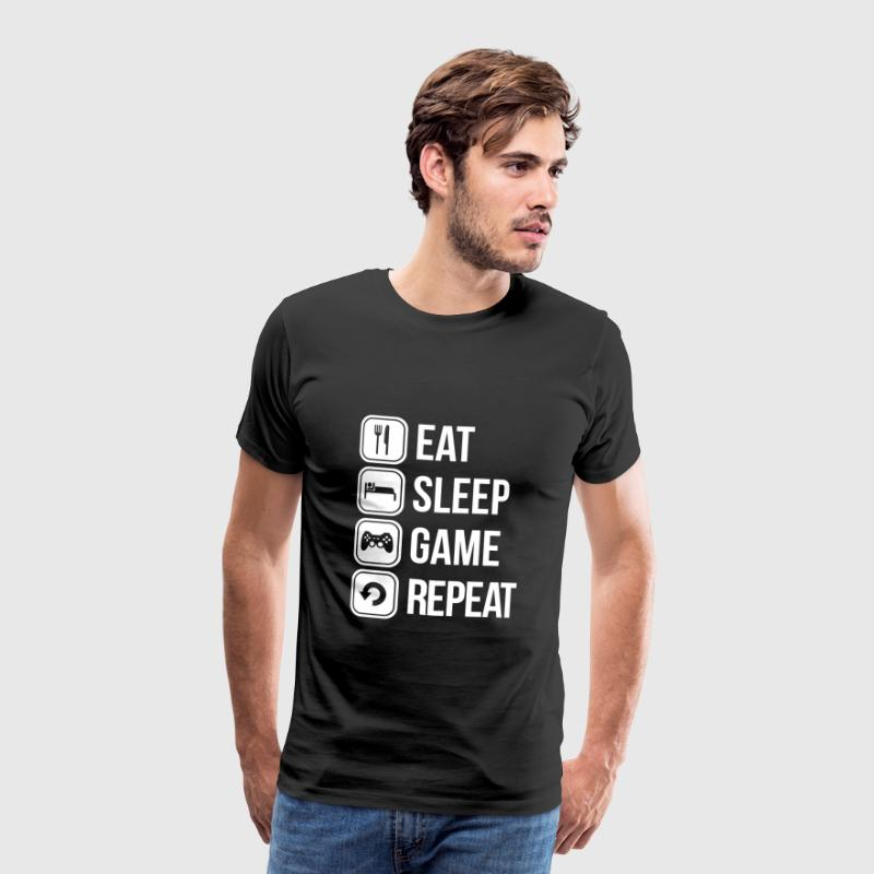 eat sleep game repeat - T-shirt Premium Homme