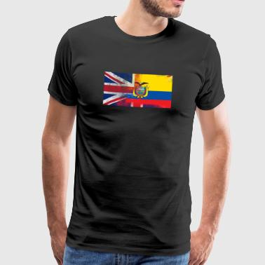 British Ecuador Half Ecuador Half UK Flag - Men's Premium T-Shirt