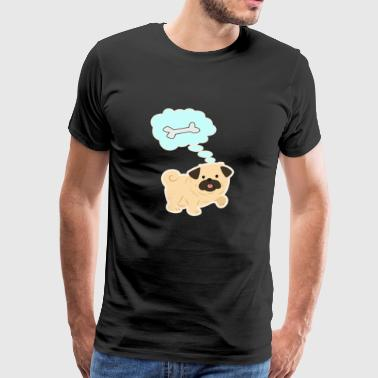 Dog bones food gift - Men's Premium T-Shirt