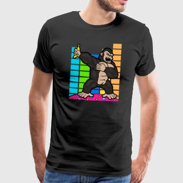 Retro Vintage Dabbing Dab Disco Party Gorilla Monkey - Herre premium T-shirt