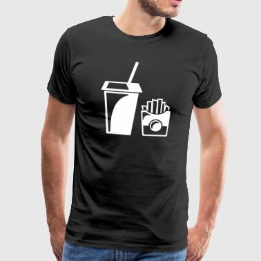 Junk food fries - Men's Premium T-Shirt