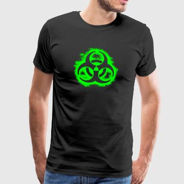 Bio Hazard outline poison green - Men's Premium T-Shirt