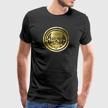 Skull of gold - round - Men's Premium T-Shirt