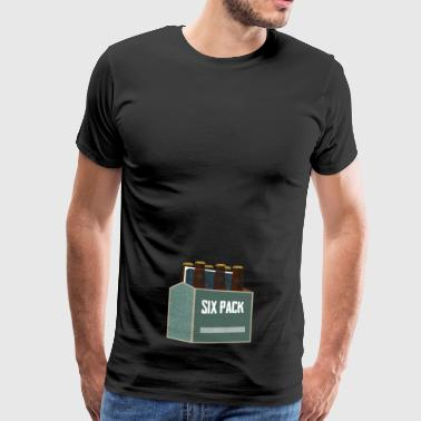 Six-Pack - Herre premium T-shirt