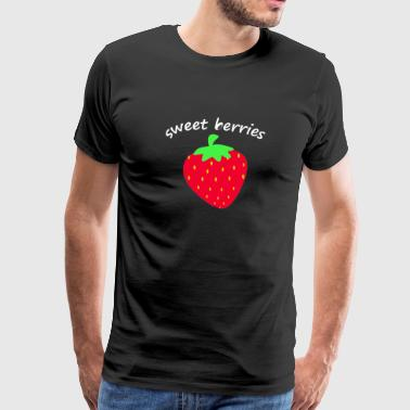 strawberry fruit fruit fruits - Men's Premium T-Shirt