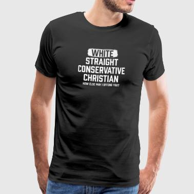 Counter White Straight Conservative Christian - Men's Premium T-Shirt