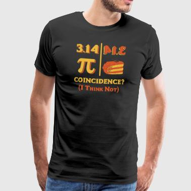Backwards Pi Day Shirt Pi is Pie Backwards Coincidence Shirt - Men's Premium T-Shirt