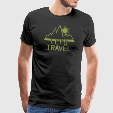 Paasei Backpacker - Mannen Premium T-shirt