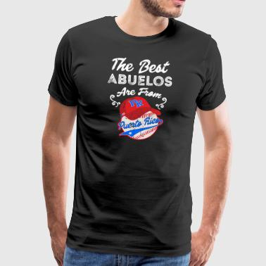 Juan Puerto Rico Baseball Best Abuelo Fathers Day - Men's Premium T-Shirt