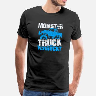 Panda Monster Truck Crazy - Herre premium T-shirt
