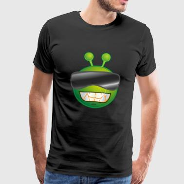 Cool frog alien with sunglasses - Men's Premium T-Shirt