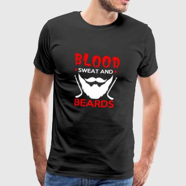 Blood Sweat Bart Hockey Playoff gave - Premium T-skjorte for menn